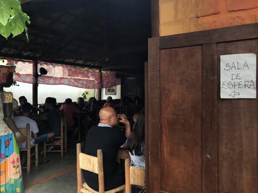 Sala de espera e bar