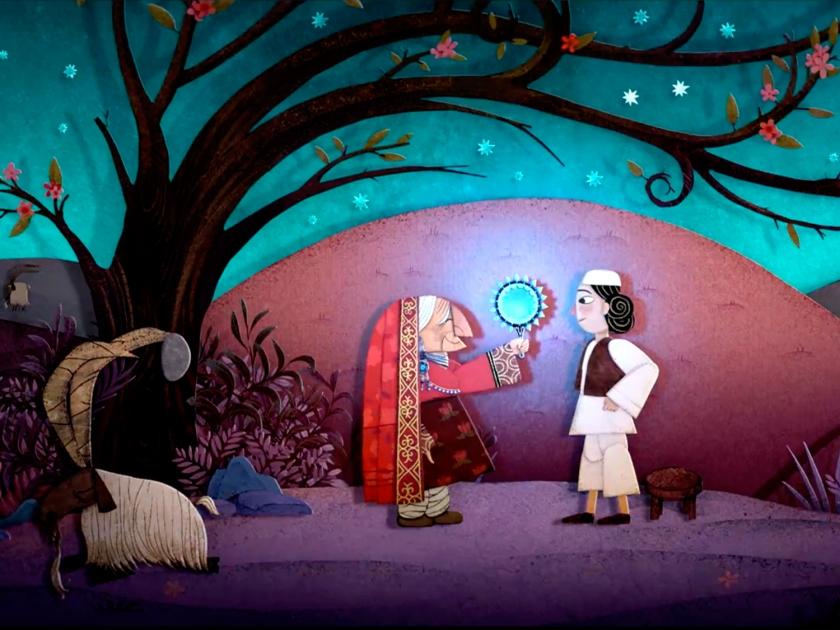 História ilustrada em animação tradicional