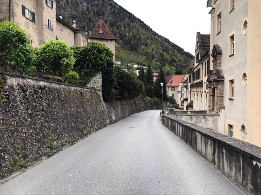 Descida da ladeira da Hofstrasse