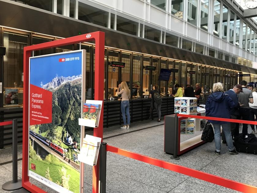 Bilheteria da estação de trem de Zurique