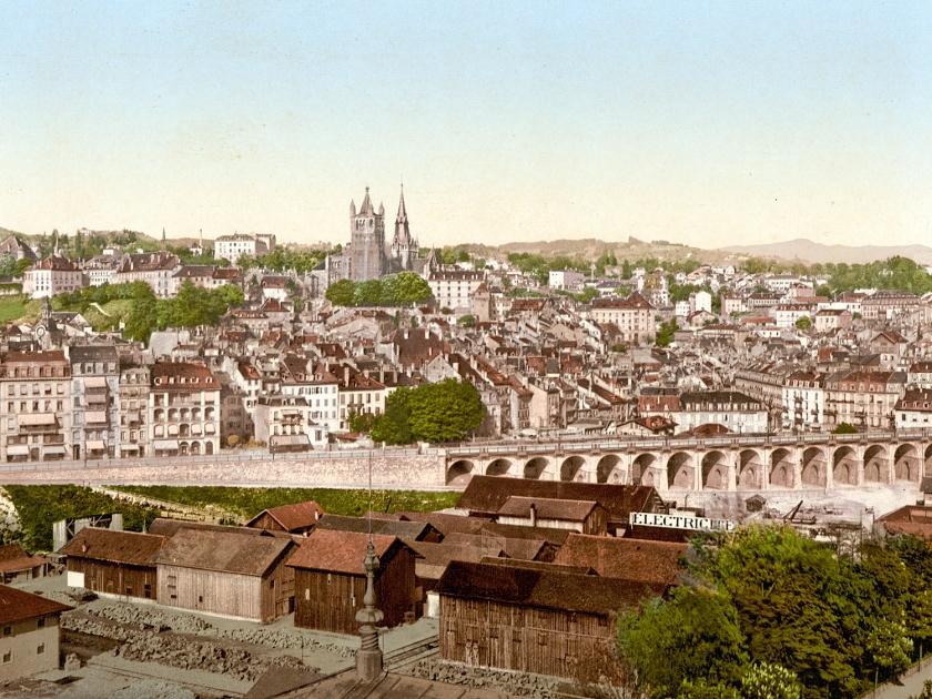 Vista da cidade em 1900