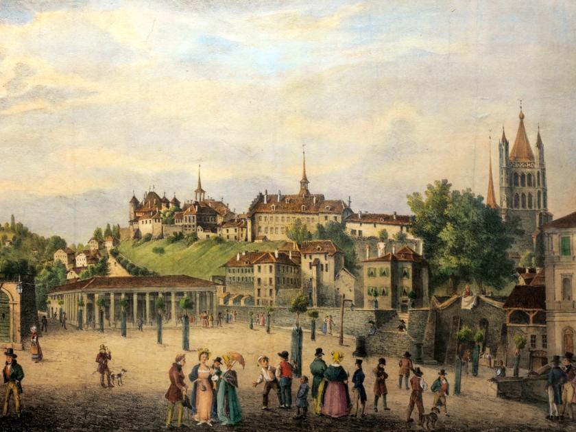 Place de la Riponne, em 1842