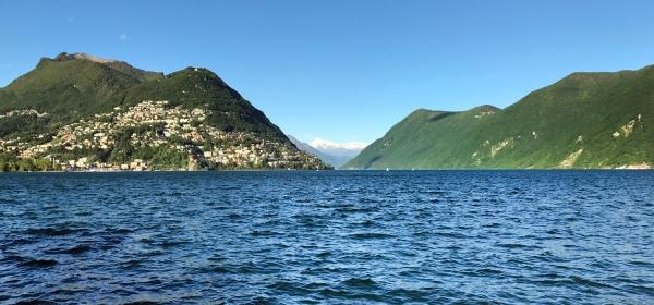 Lago di Lugano visto do Giardino Belvedere