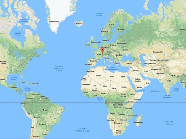 Localização de Lausanne no Mapa Mundi