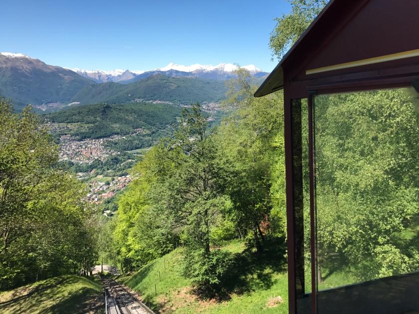 Vista da estação do topo do monte