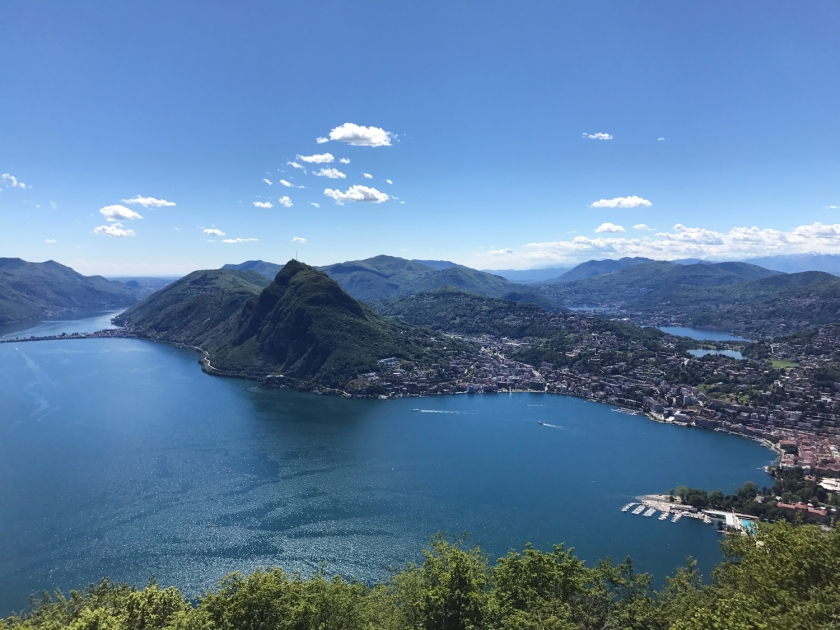 Lugano vista do Monte Brè
