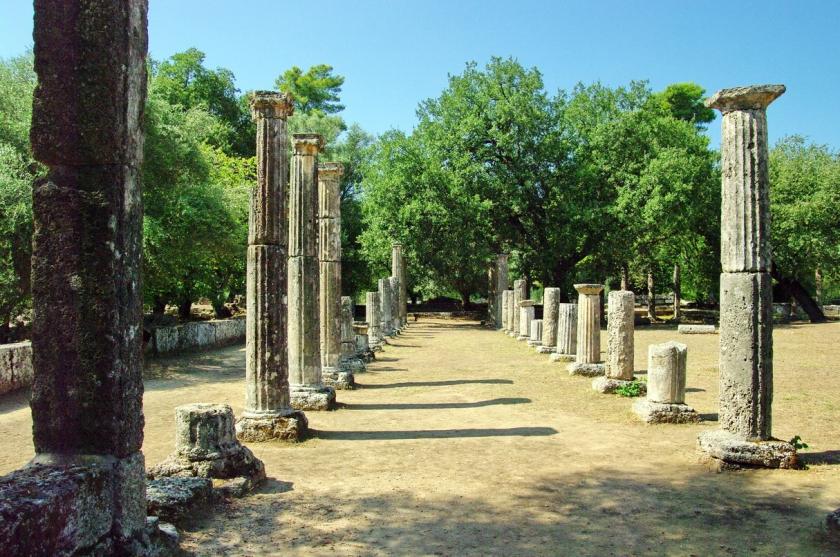 Ruínas da palaestra de Olímpia