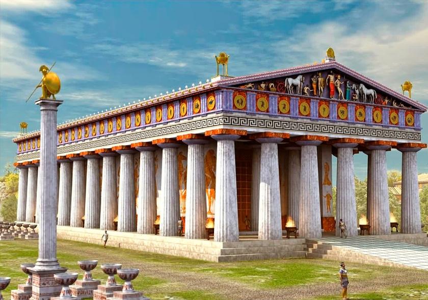Simulação do Templo de Zeus