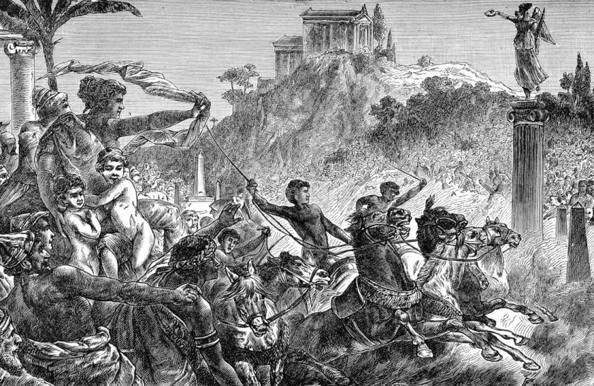 Ilustração das Olimpíadas da Grécia Antiga
