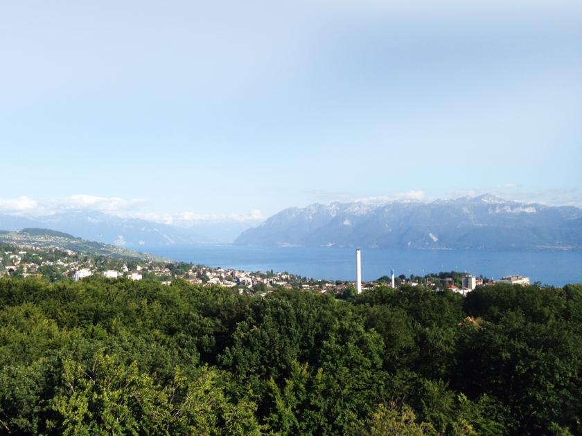 Vista do alto da Tour de Sauvabelin