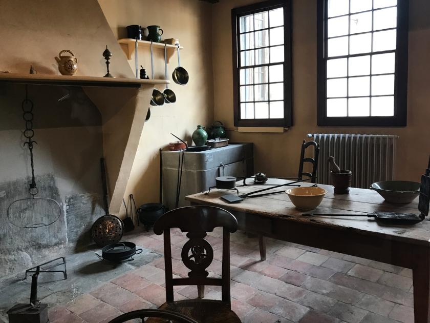 Cozinha antiga da casa