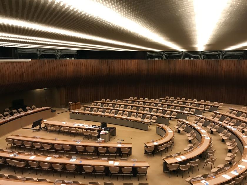 Uma das muitas salas de reunião