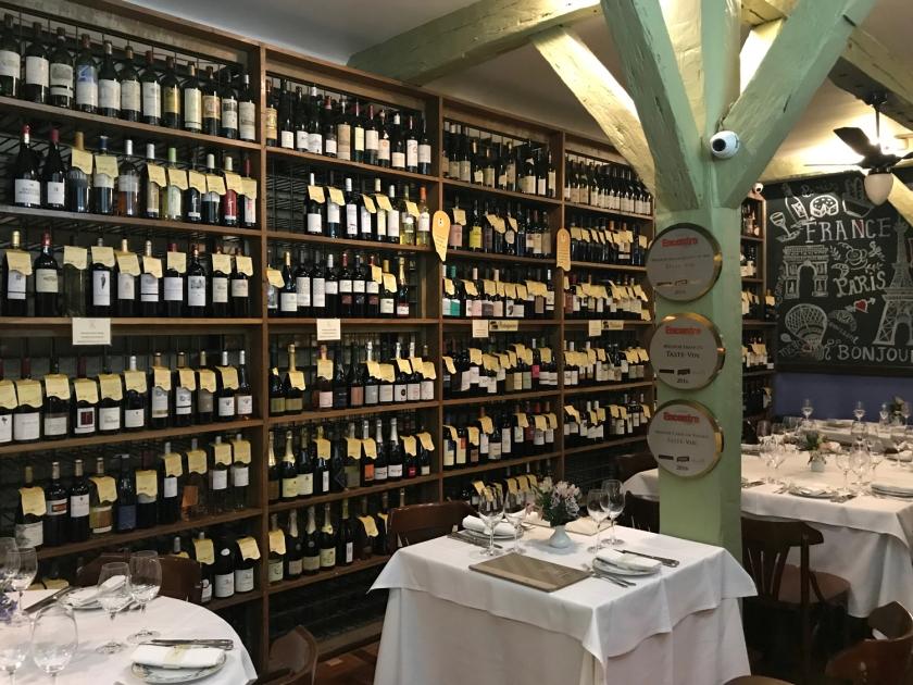 Loja de vinhos do restaurante