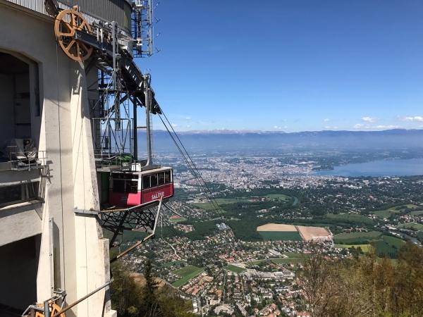 Teleférico da subida do Monte Salève