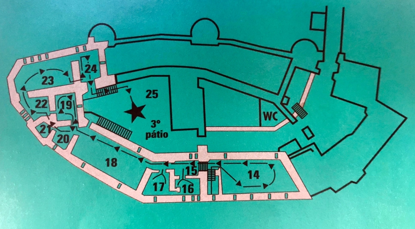 Mapa do Château de Chillon