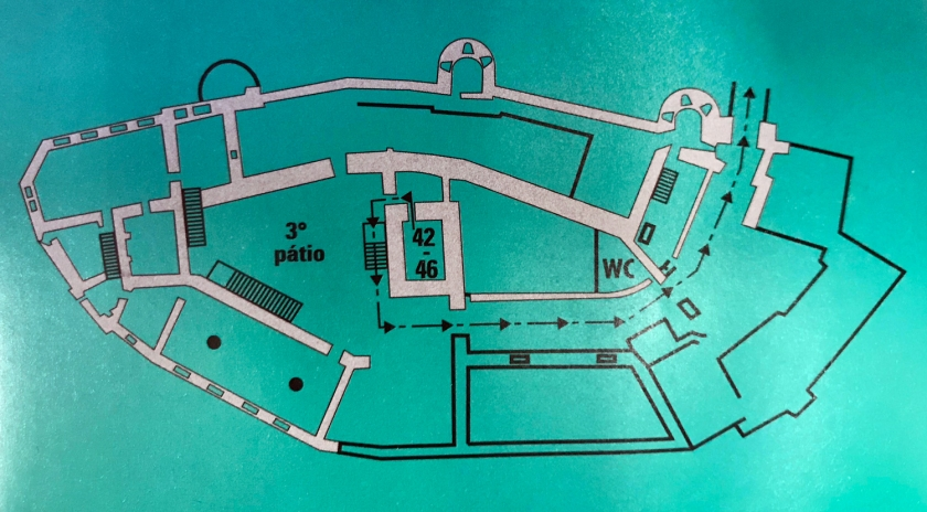 Mapa de visita do Château de Chillon