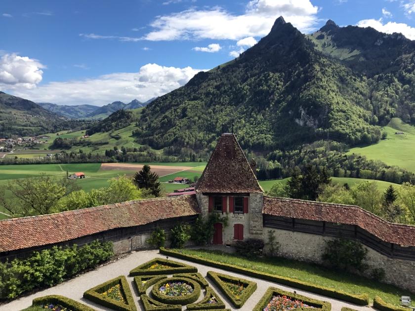 Vista do Château de Gruyères