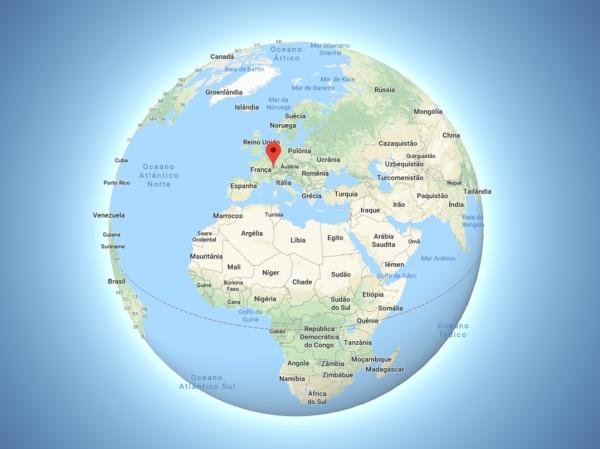 Localização de Berna no Mapa Mundi