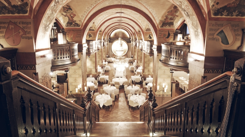 Restaurante no interior da Kornhaus