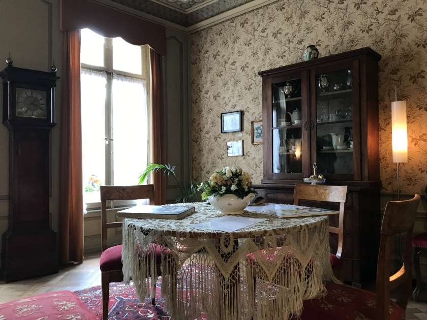 Sala da casa onde morava Einstein