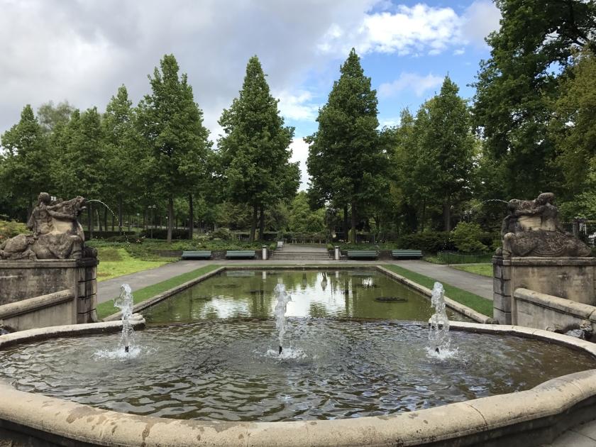 Fonte de água do parque
