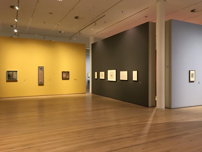 Amplas salas de exposição