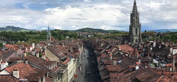 Centro histórico visto do alto da torre
