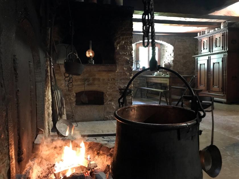 Cozinha de uma das casas