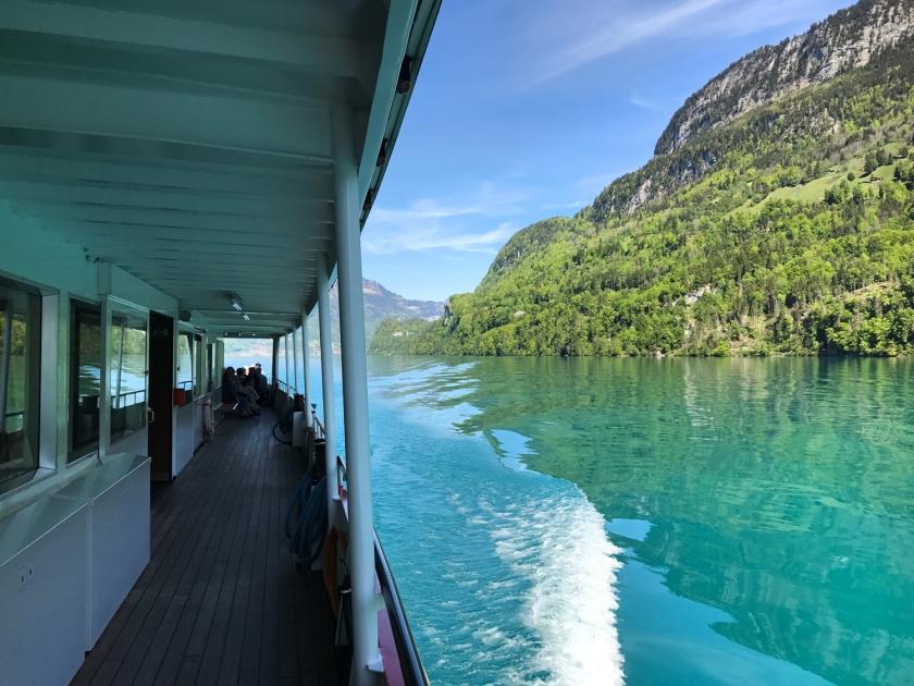 Parte lateral do barco