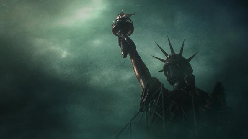 Estátua da Liberdade em construção