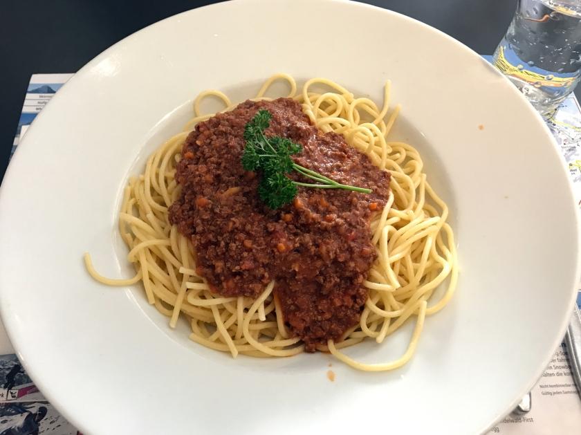 Apaghetti bolognaise