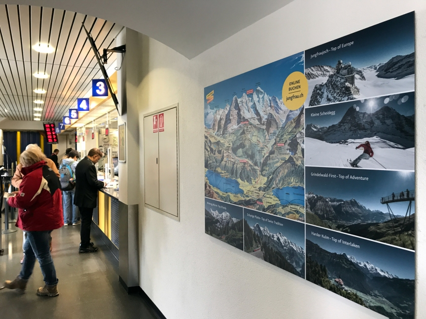 Bilheteria da estação Interlaken Ost