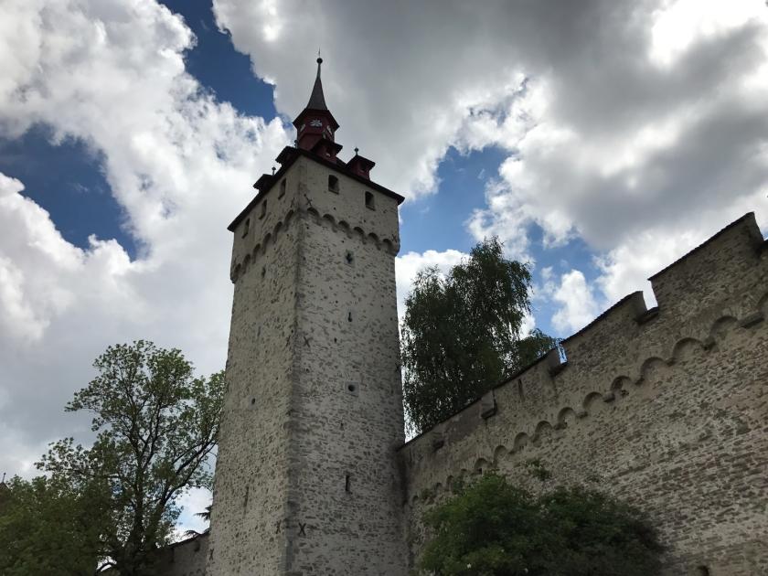 Luegislandturm vista de fora