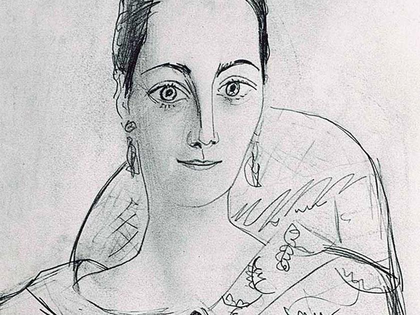 Desenho de Angela Rosengart feito por Picasso