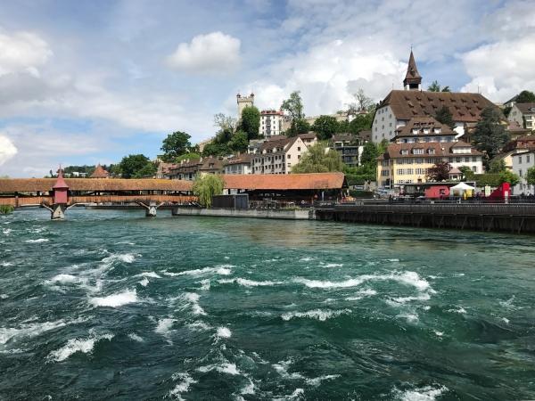 Spreuerbrücke e Wasserkraftwerk Mühlenplatz
