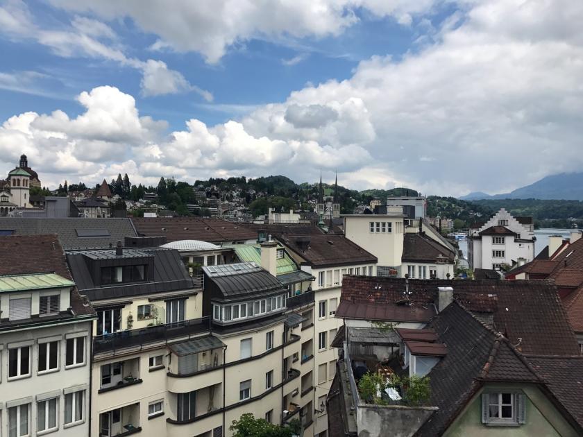 Centro histórico visto do terraço