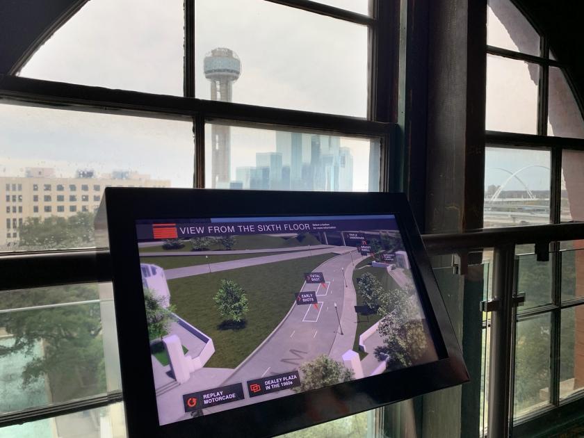 Vista da janela com tela interativa