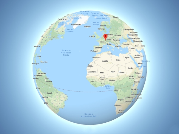 Localização da cidade de Lucerna no Mapa Mundi