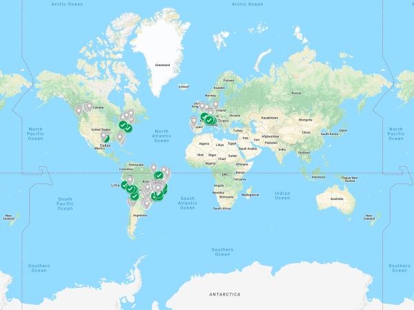 Mapa Mundi em 2018