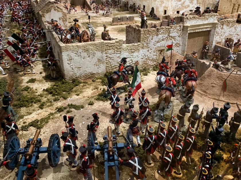 Maquete da Batalha do Alamo