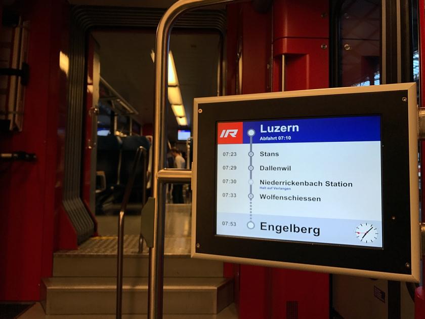 Trem de Lucerna para Engelberg