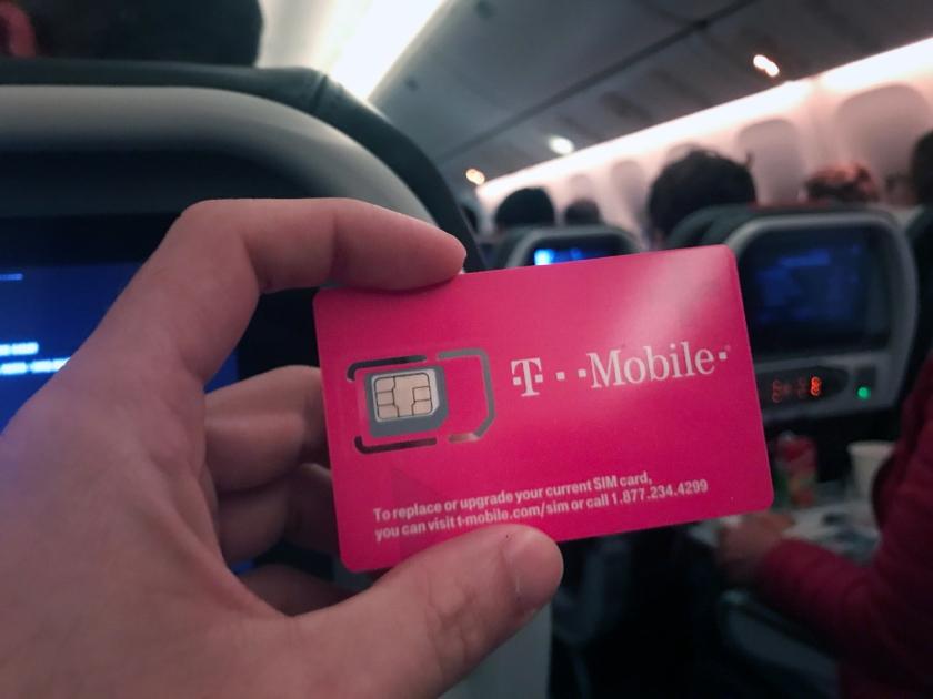 Coloquei o chip no celular durante a viagem