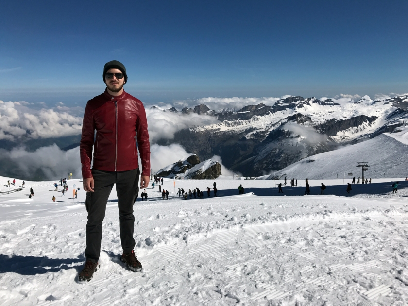 Caminhada no topo da montanha