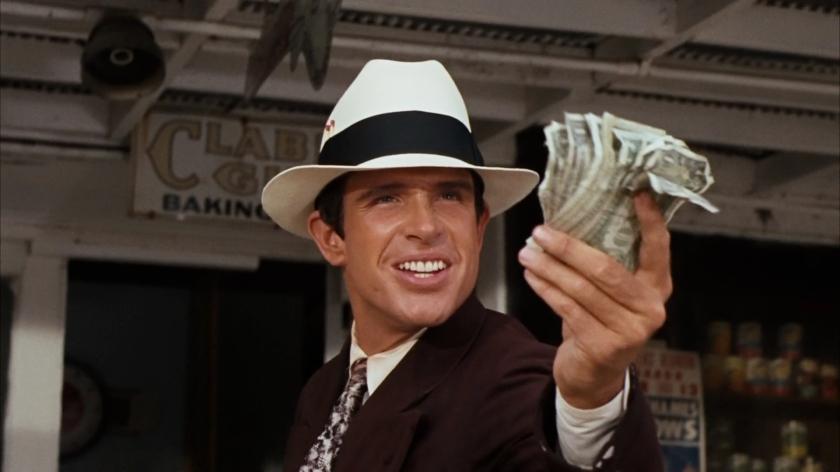 Warren Beatty no papel de Clyde Barrow