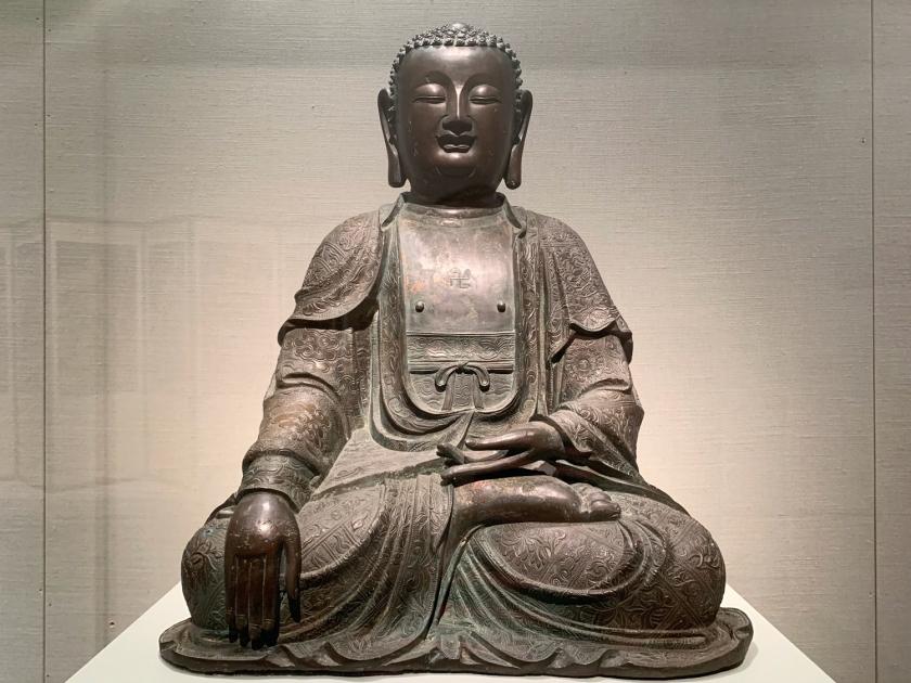 Estátua de Buda em pose de meditação