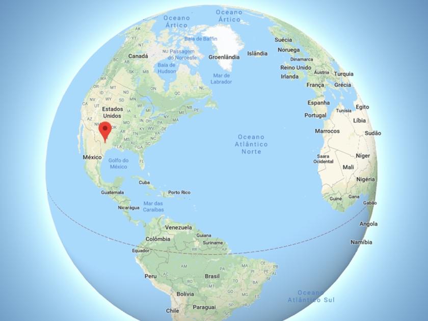 Localização de San Antonio no mapa mundi