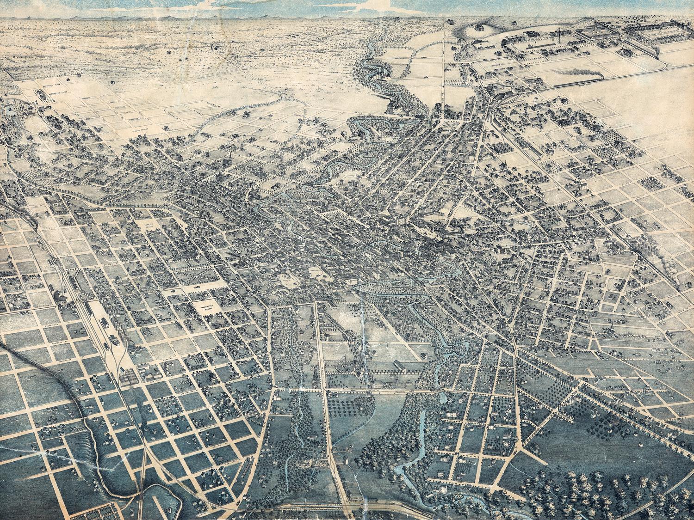 Cidade de San Antonio em 1886
