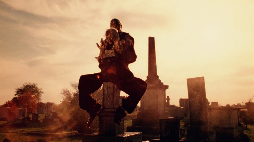 Imagens macabras no cemitério