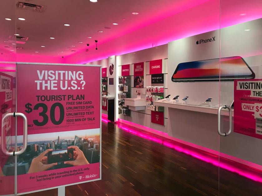 Plano para turistas da T-Mobile