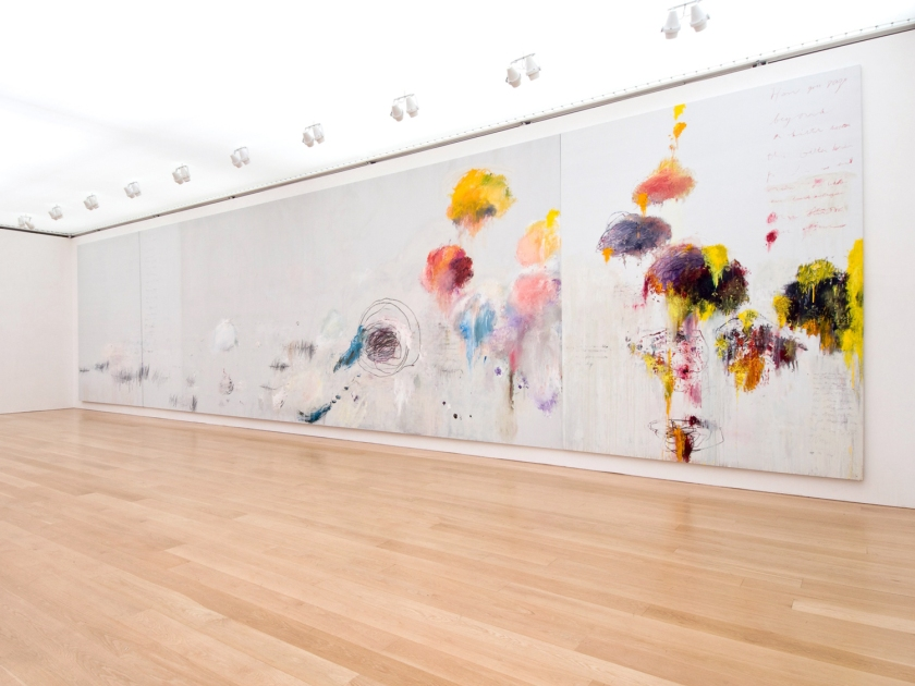 Pintura na Cy Twonbly Gallery